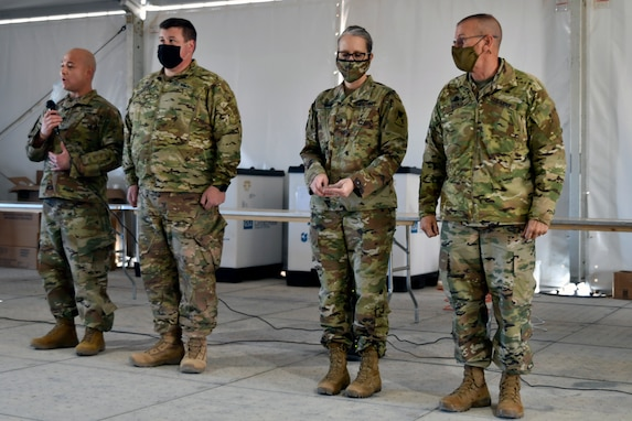 Brig. Gen. Link visits 806th Engineer Company (Route Clearance)
