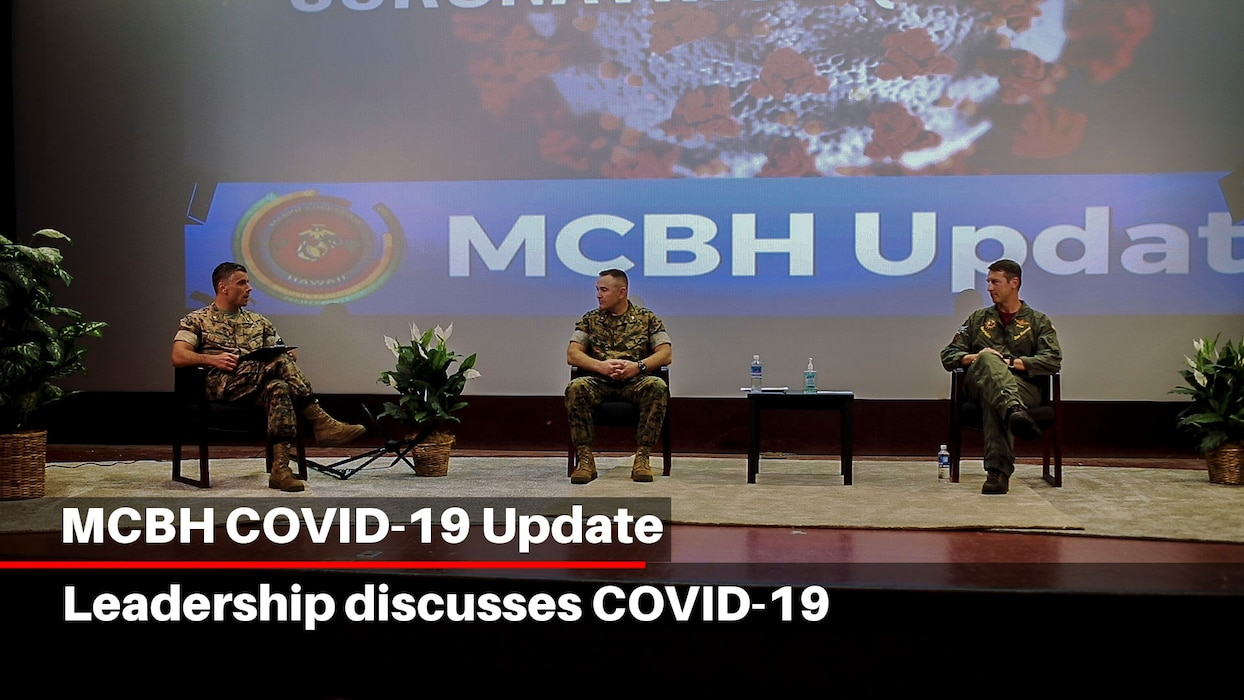 Base leadership aboard Marine Corps Base Hawaii (MCBH) discuss the installation's response to the COVID-19 outbreak, May 15, 2020. MCBH is currently in Health Protection Condition Charlie, which is where the military and medical leaders are taking necessary precautions to prevent or respond to a potential outbreak.(U.S. Marine Corps video by Sgt. Luke Kuennen)