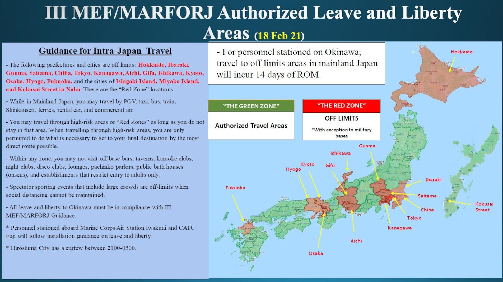 III MEF/MARFORJ Leave and Liberty Areas