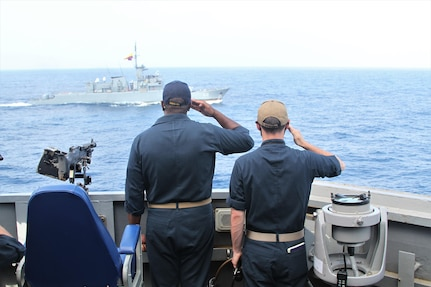 Bilateral passing exercise (PASSEX) with the Colombian naval frigate ARC Antioquia (FM-53), Feb. 15.