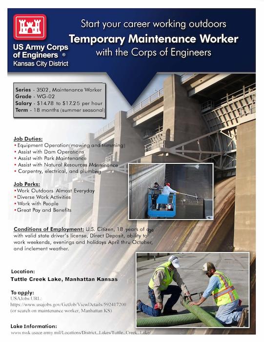 2021 Temporary Maintenance Worker Announcement