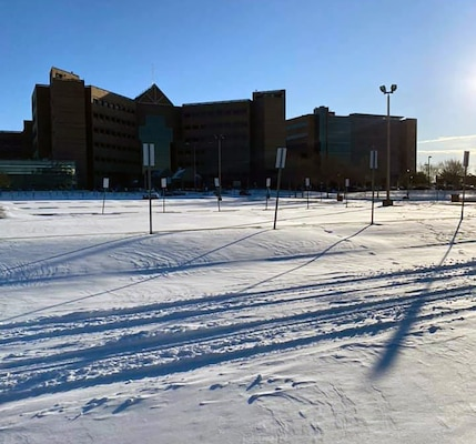 Brooke Army Medical Center endured a deluge of snowfall at Joint Base San Antonio-Fort Sam Houston Feb. 15 and 18.