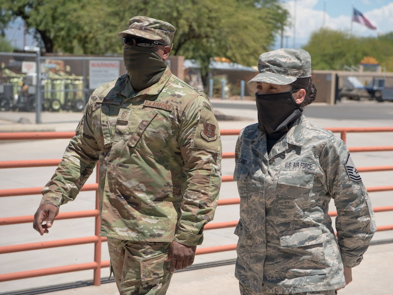 Command Chief Master Sgt. meets with Airmen