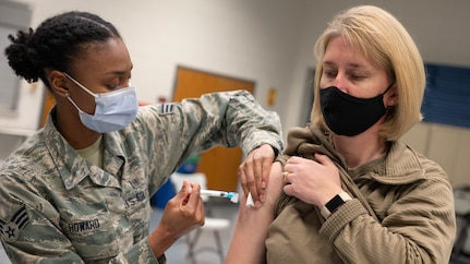 11th Wing Leadership vaccinated for COVID-19