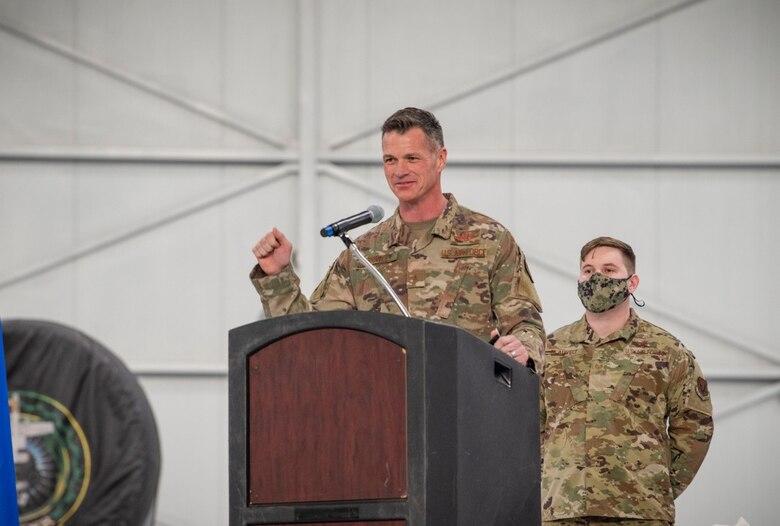 Brig. Gen. Drowley delivers speech.
