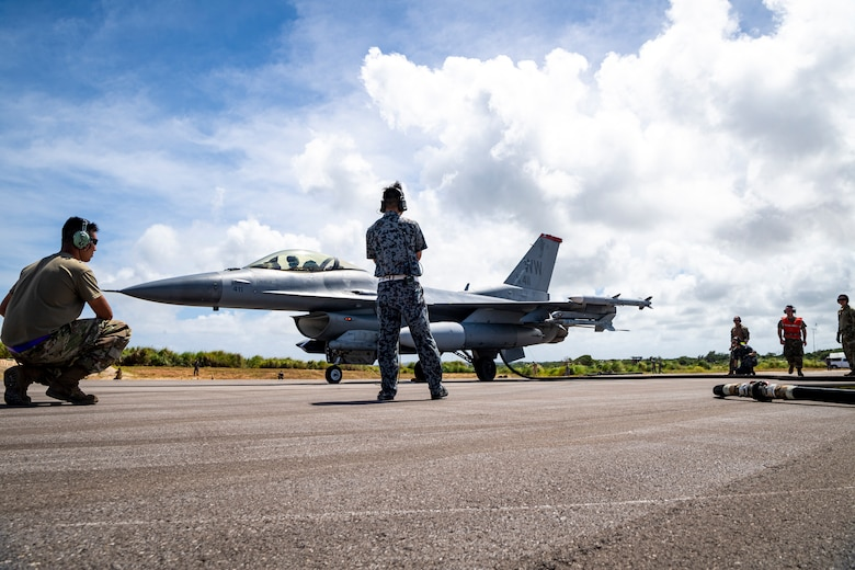 More than 230 Airmen and 15 F-16's from the 35th Fighter Wing forward deployed to Andersen Air Force Base, Guam, as the lead wing for Cope North 21 (CN21), Feb. 3-19.
