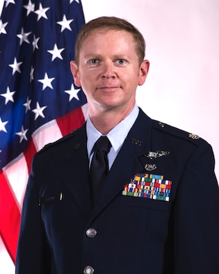 Official Air Force photo of Lt. Col Wes Duncan, 188th Wing Area Defense Council.