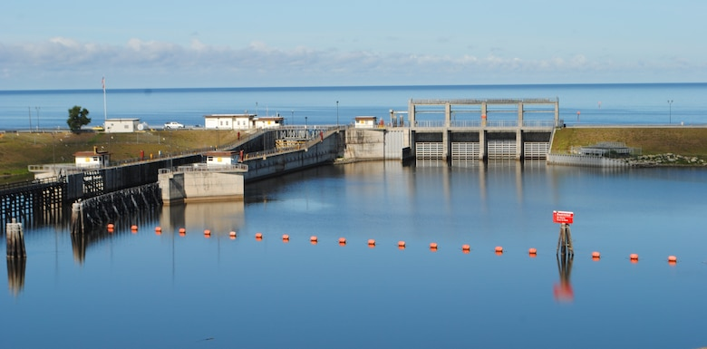 Photo of Port Mayaca Lock and Dam and Lake Okeechobee