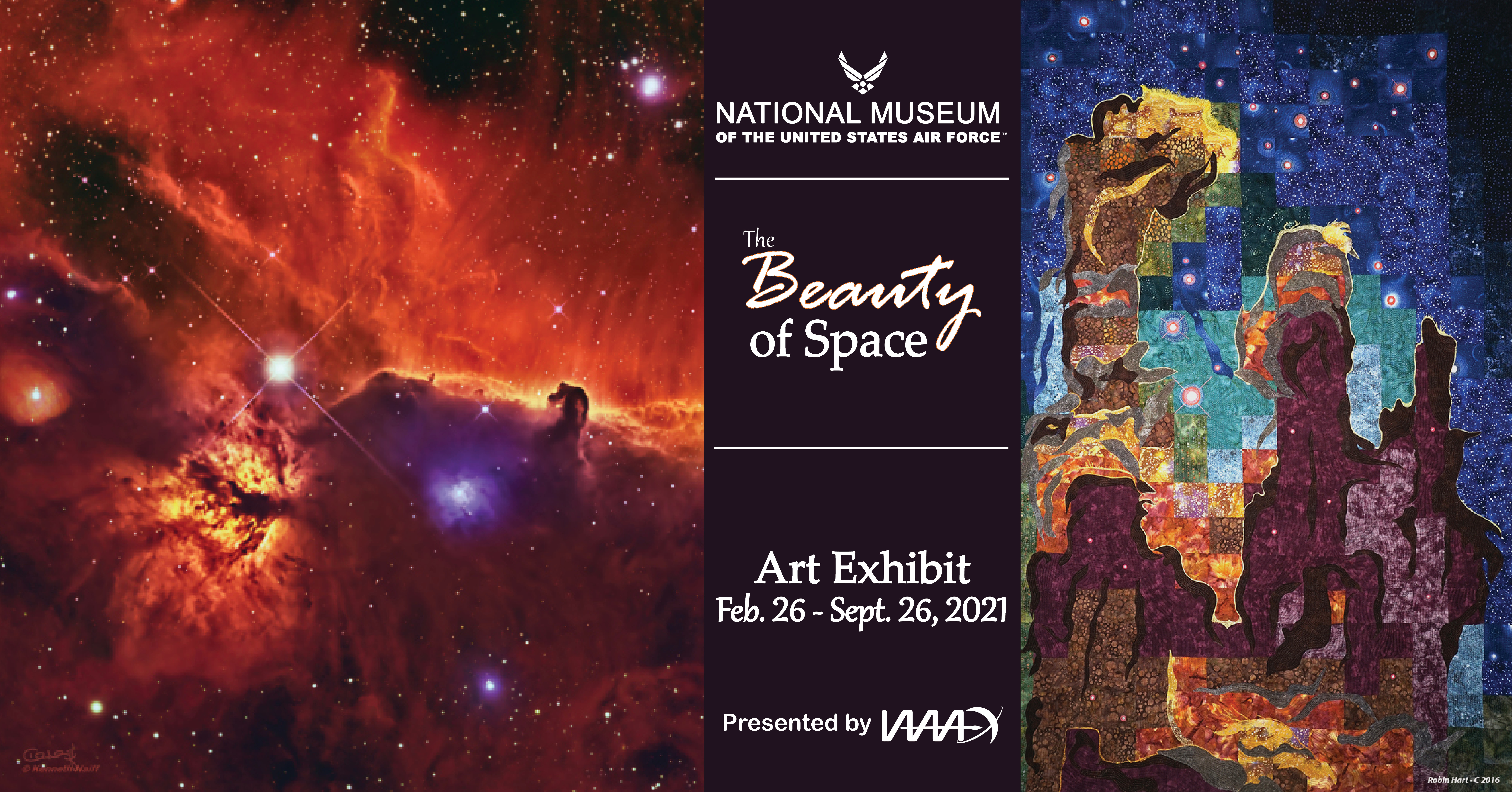"""Illustration featuring two of the pieces of art featured in """"The Beauty of Space"""" art exhibit"""