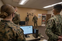 The 19th Sergeant Major of the Marine Corps, Sgt. Maj. Troy E. Black, tours Marine Medium Tiltrotor Training Squadron 204 (VMMT 204) at Marine Corps Air Station New River, Nc, Feb. 18, 2021. The Sergeant Major of the Marine Corps conducted the visit to hear recommendations regarding force maturity and retention from the leadership responsible for the initial training of various enlisted aviation military occupational specialties. The VMMT 204 mission is to train the world's finest tiltrotor pilots, aircrew, and maintainers for the U.S. Marine Corps, U.S. Air Force, U.S. Navy, and Japan Ground Self-Defense Force. (U.S. Marine Corps photo by Sgt. Victoria Ross)