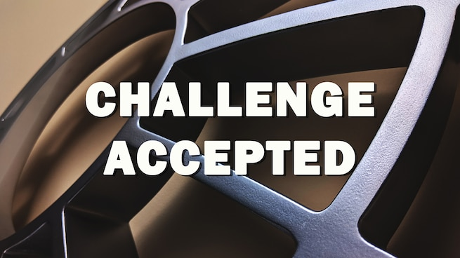 "Graphic with article title ""Challenge accepted."""
