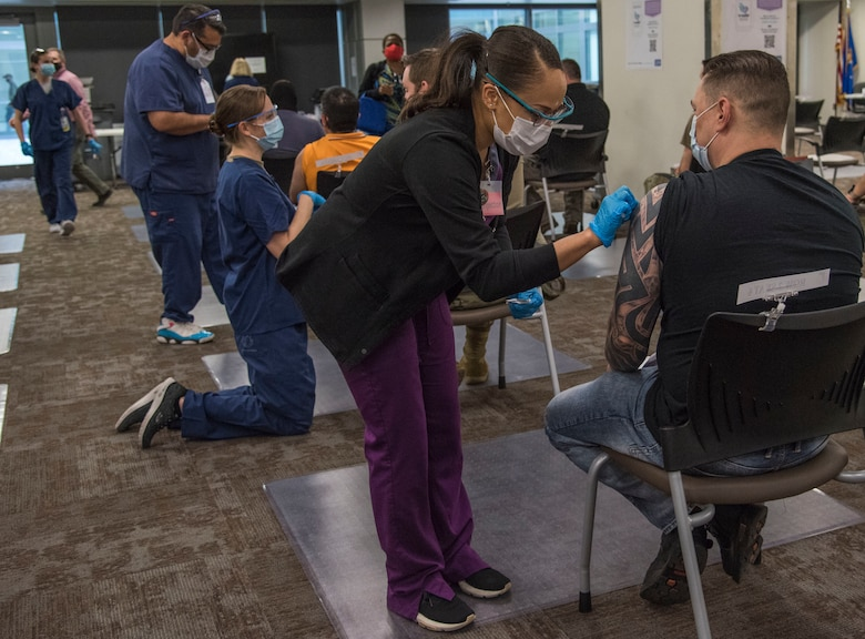 Since the arrival of the Pfizer vaccine to Wilford Hall Ambulatory Surgical Center on Dec. 14, 2020, more than 50 nurses and medical technicians have volunteered to administer the vaccine.