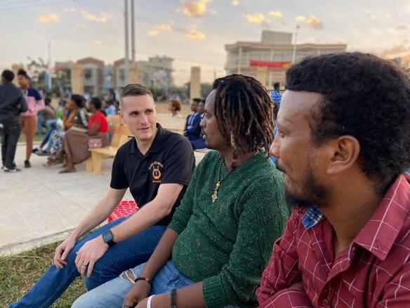 U.S. Army Europe Band performs at the American Corner in Mek'ele, Ethiopia