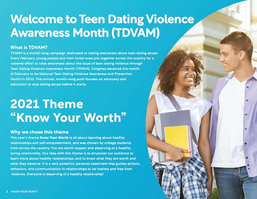 Teen Dating Violence Awareness Month courtesy graphic.