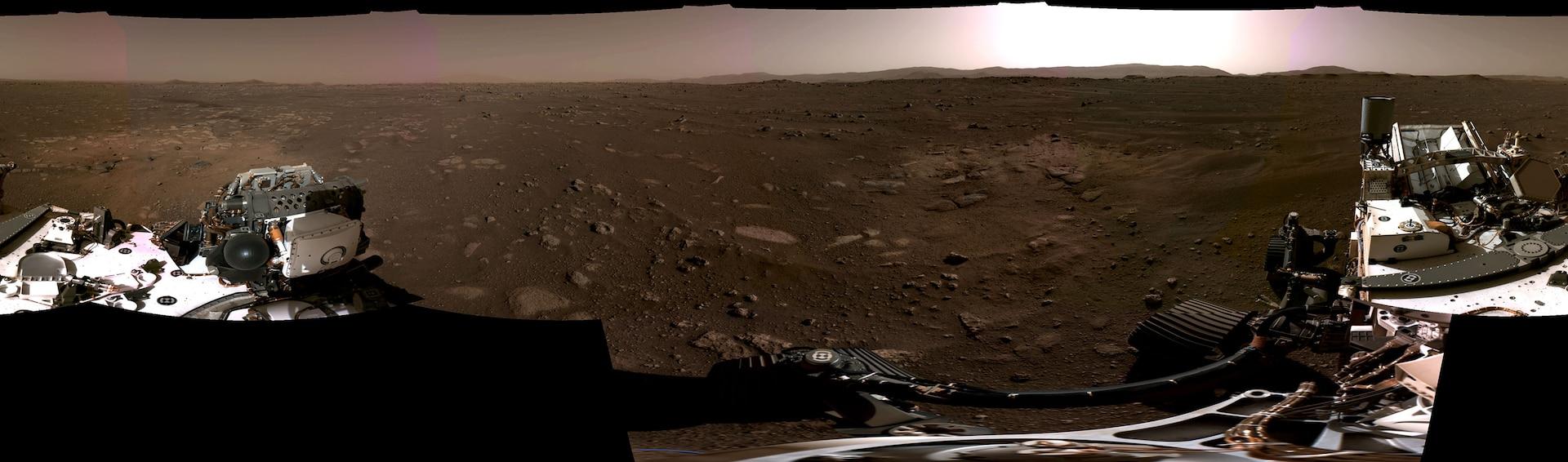 Panorama view of Mars