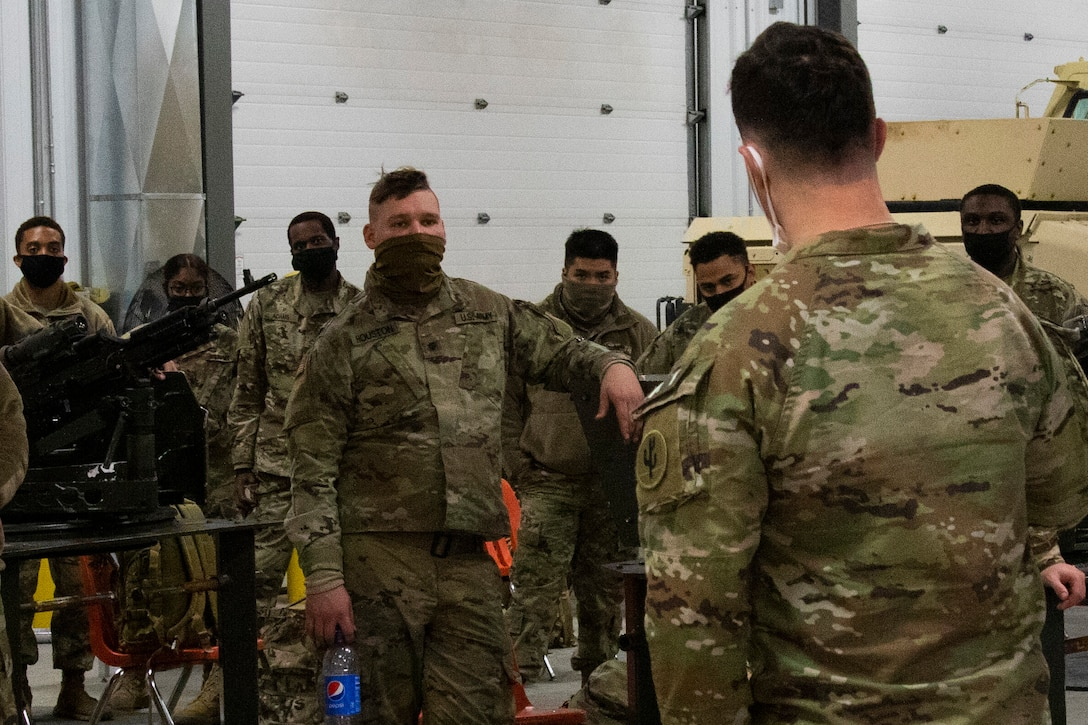 103rd Sustainment Command (Expeditionary) conducts convoy mounted preliminary marksmanship instructions