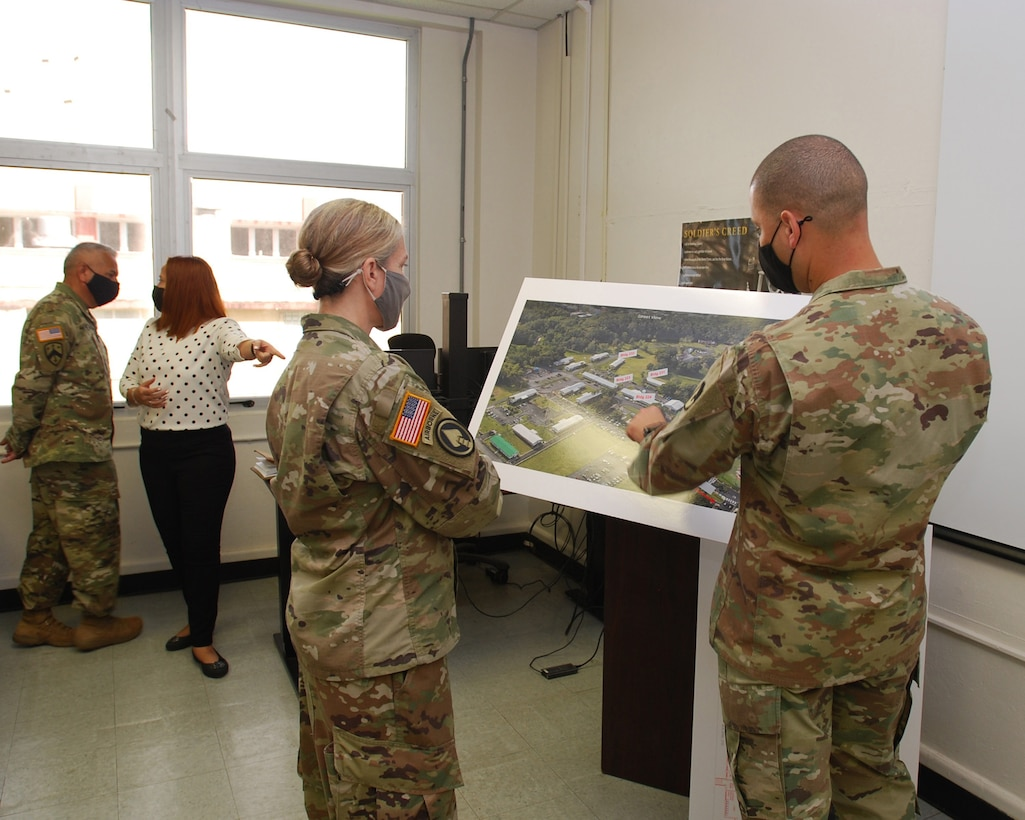 81st RD Commanding General Maj. Gen. Shawley visits Fort Buchanan as the garrison's new senior commander