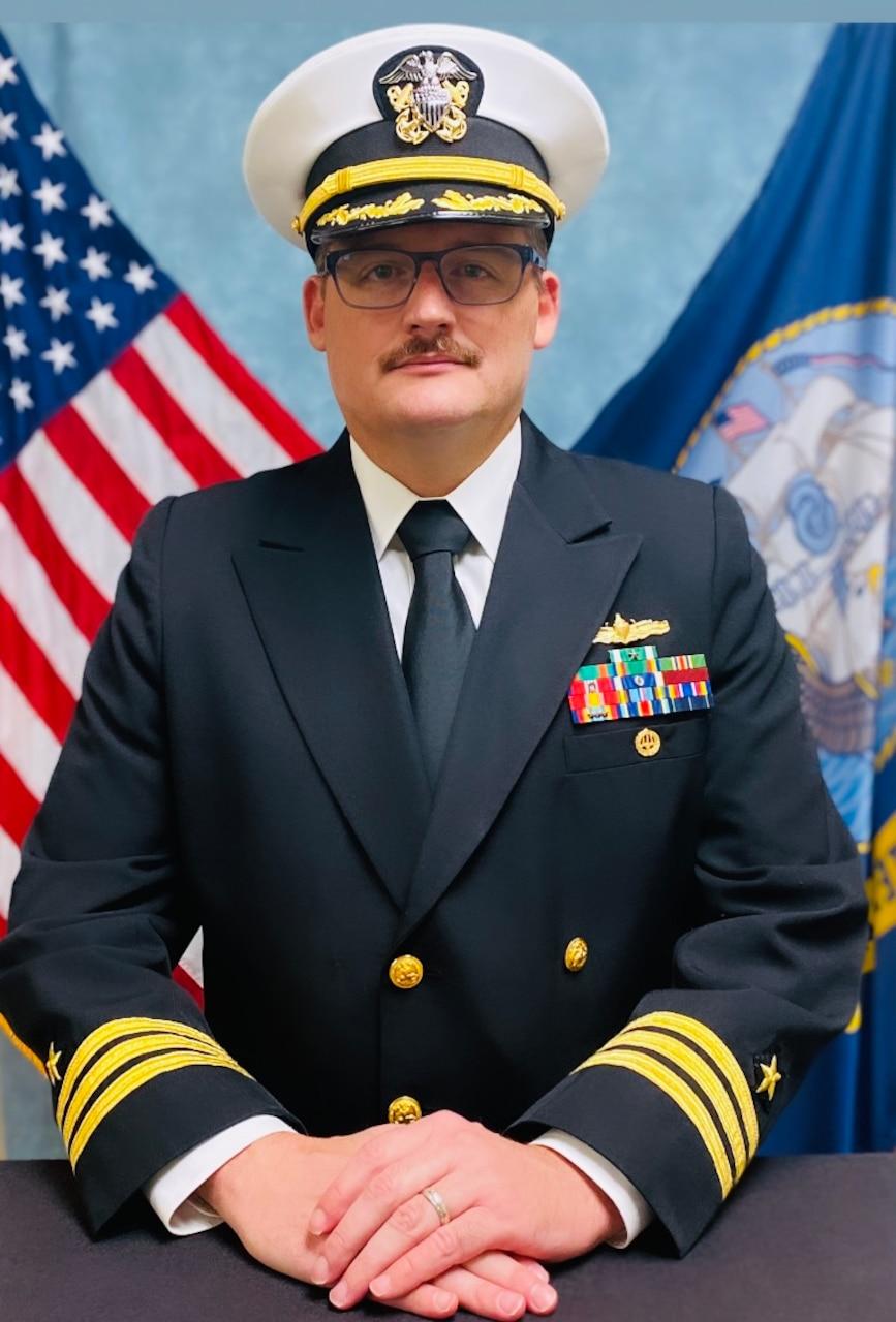 Studio portrait of Commander Jeffrey A. Gerring