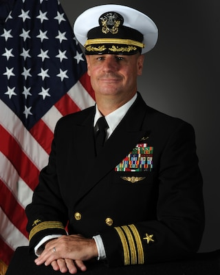 210224-N-NO433-002 -- Official U.S. Navy photo of Naval Technical Training Center Executive Officer, Cmdr. Damon R. Sumerall.