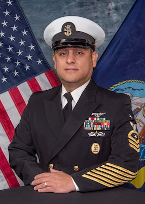 201215-N-DC385-1021 -- Official U.S. Navy photo of Naval Technical Training Center Lackland Command Master Chief Jose M. Hernandez.