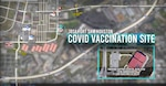 Map showing BAMC's COVID-19 Vaccination Site at JBSA-Fort Sam Houston.