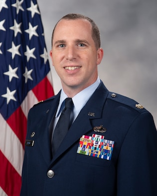 Maj. Kevin Byram, 436th Comptroller Squadron commander, Dover Air Force Base, Delaware. (U.S. Air Force official photo)