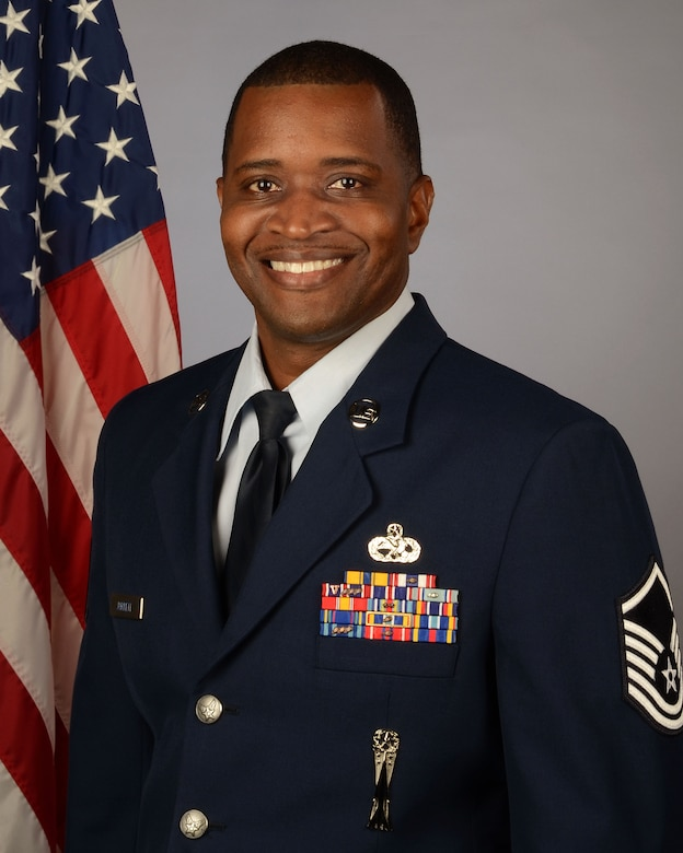 U.S. Air Force Master Sgt. Mylin Jarrett, flight chief for the 169th Maintenance Squadron Weapons Section, Dec. 9, 2020. (U.S. Air National Guard photo by Lt. Col. James St.Clair, 169th Fighter Wing Public Affairs)