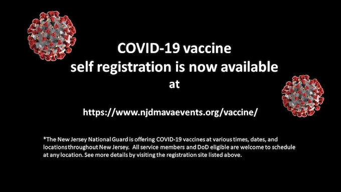 COVID-19 Self-registration flyer