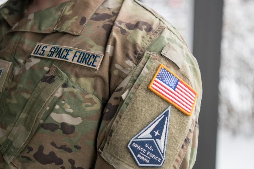 The Space Force tapes and service branch patch.