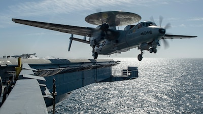 USS Nimitz (CVN 68) conducts flight operations.