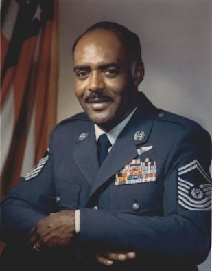 Chief Master Sgt. Thomas Barnes, first African American to be Chief Master Sgt. of the Air Force. Barnes was selected to hold the top Air Force enlisted position Oct. 1, 1973, and finished him time in the position July 31, 1977. (Courtesy photo)