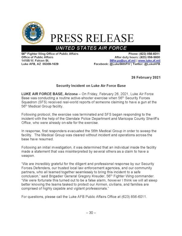 Press Release 2021-02-26