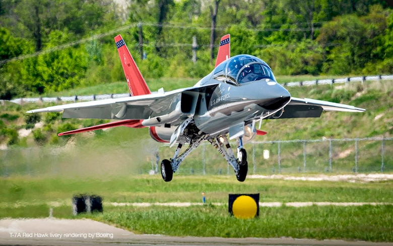 eT-7A aircraft T2 takes off on its first flight and taxi test test on April 24, 2017.