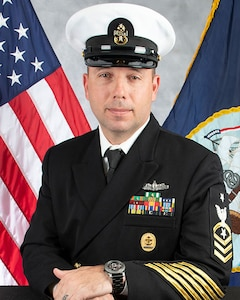 Studio portrait of CMDCS Scott G. Callaway