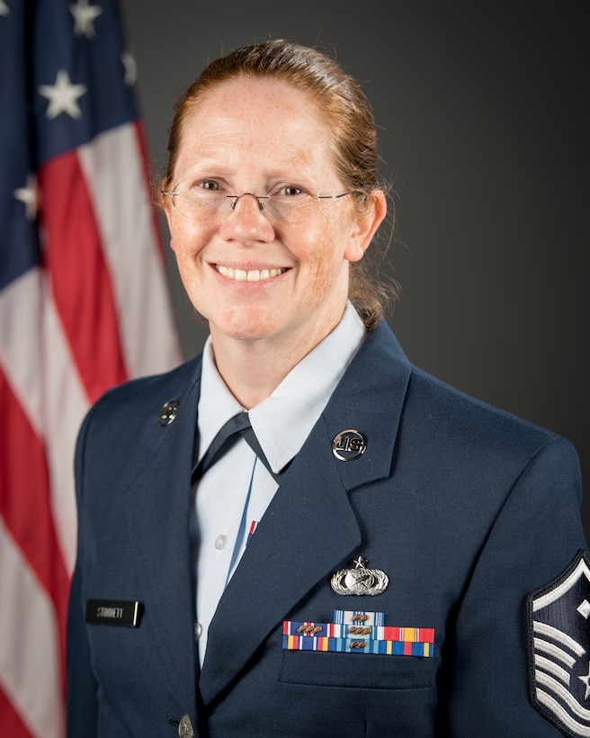 Master Sgt. Diane Stinnett of the 123rd Mission Support Group has been selected as the Kentucky Air National Guard's 2020 first sergeant of the year. As first sergeant of the 123rd Mission Support Group, Stinnett is responsible for advising the commander on issues regarding readiness, welfare and morale, providing mentorship and discipline to the enlisted staff, assisting with quality-of-life issues and ensuring a mission-ready force. (U.S. Air Force Photo by Staff Sgt. Joshua Horton)