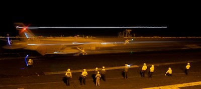 USS Nimitz (CVN 68) provides close-air support to Operation Octave Quartz.