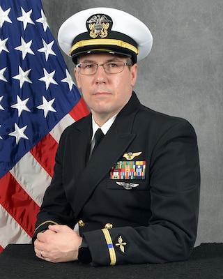 201231-N-YF503-1001 TINKER AIR FORCE BASE, Okla. (Dec. 31, 2020) Official portrait of Chief Warrant Officer 4 David A. Meissner II. (U.S. Navy photo)
