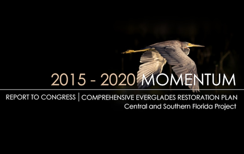 Cover image from the 2015-2020 Report to Congress regarding the Comprehensive Everglades Restoration Plan. This is the fourth such report jointly submitted by the Secretaries of the Army and Interior as required in the 2000 Water Resources Development Act.
