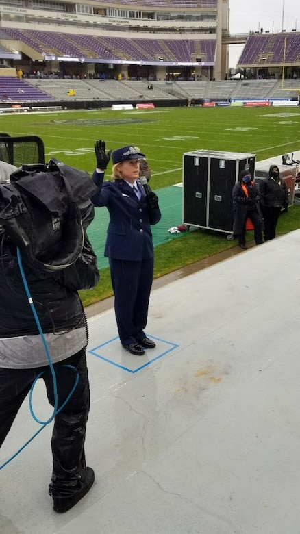 Photo of Major General DeAnna Burt at the Armed Forces Bowl