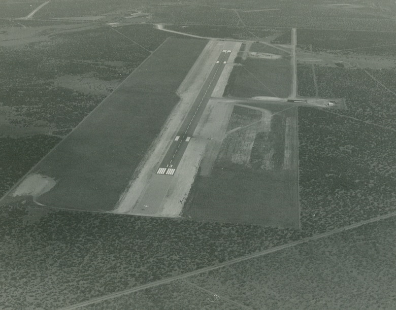"Thirty-year anniversary of the Spofford Auxiliary Airfield was celebrated on Jan. 28, 1991, the new Auxiliary Field (""Wizard"" Auxiliary Field) at Spofford, Texas opened up for Laughlin touch-and-go landing operations. As a result of the establishment of the new auxiliary air field, the wing cancelled its lease on its existing auxiliary field at Eagle Pass—which had been under Laughlin's jurisdiction and control since 1955 (when it was transferred to us from the now-closed Laredo AFB)."