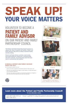 Volunteer to Become a Patient and Family Advisor on our Patient and Family Partnership Council.