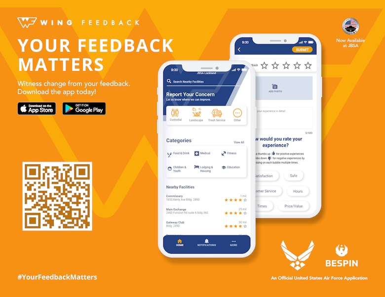 Wing Feedback App flyer
