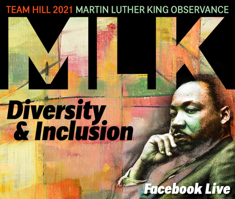 Graphic depicting Martin Luther King Jr. and an MLK virtual observance event.