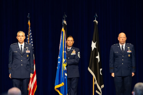 Brig. Gen. Stephen Purdy assumed command of the 45th Space Wing and Eastern Range in a ceremony held Jan. 5, 2021, at Patrick Space Force Base, Fla. The ceremony was presided over by Lt. Gen. Stephen Whiting, commander of Space Operations Command. (U.S. Space Force photo by Amanda Ryrholm)