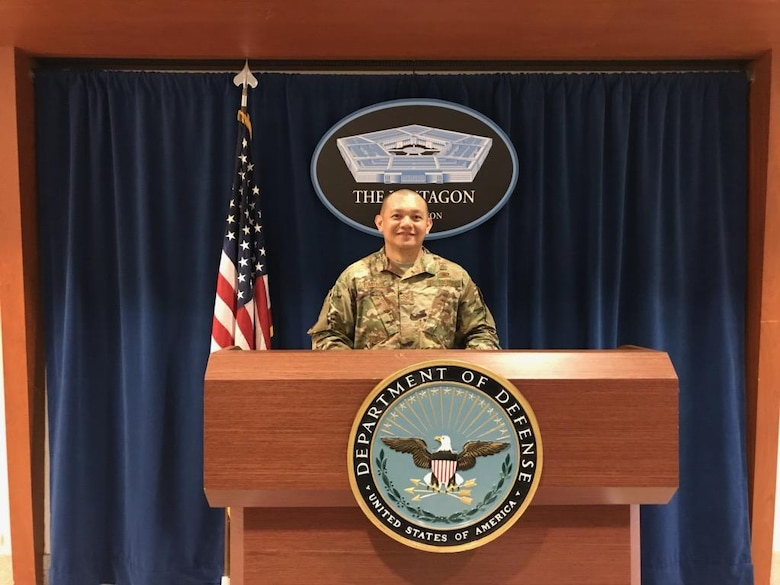 Tech Sgt. Lloyd Tumbaga toured the Pentagon in July 2019.