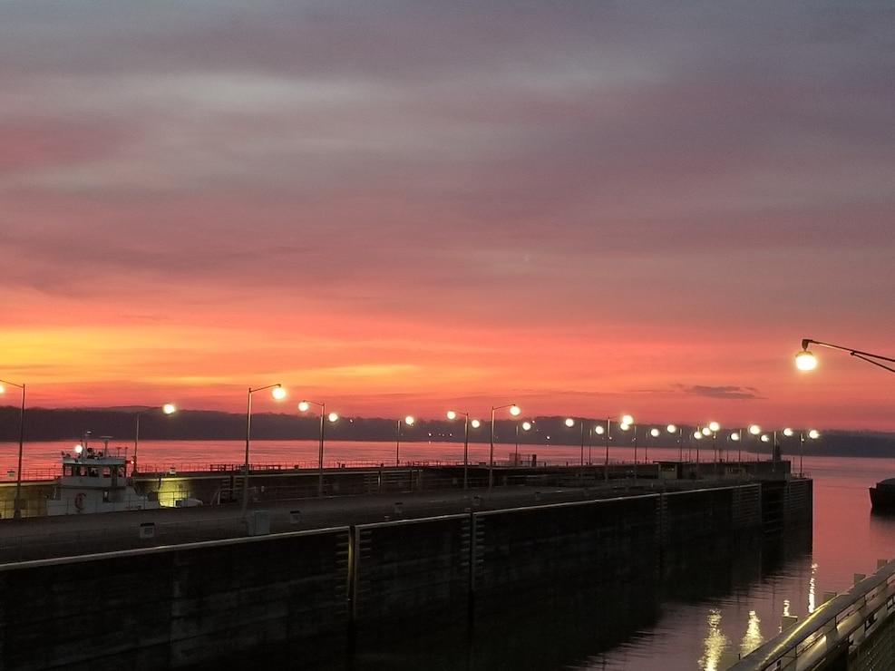 Sunrise at Smithland Locks and Dam