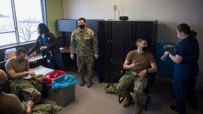 U.S. 7th Fleet Sailors Receive COVID Vaccine