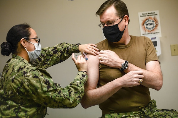 Reserve Force Surgeon Receives COVID-19 Vaccine