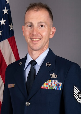 Official Photo of Technical Sgt. Ryan Rager, keyboard player and vocalist with the United States Air Force Band of Mid-America, Scott Air Force Base, IL.