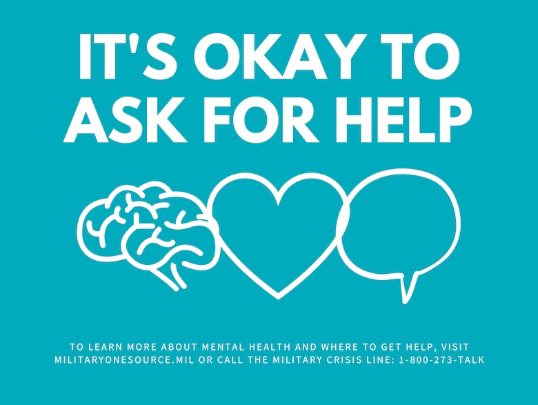 May is Mental Heatlh Awareness Month. The intent of the observance is to raise awareness about mental health, while teaching strategies for achieving and maintaining mental health wellness. (U.S. Navy graphic by Mass Communication Specialist 1st Class Sarah Villegas)